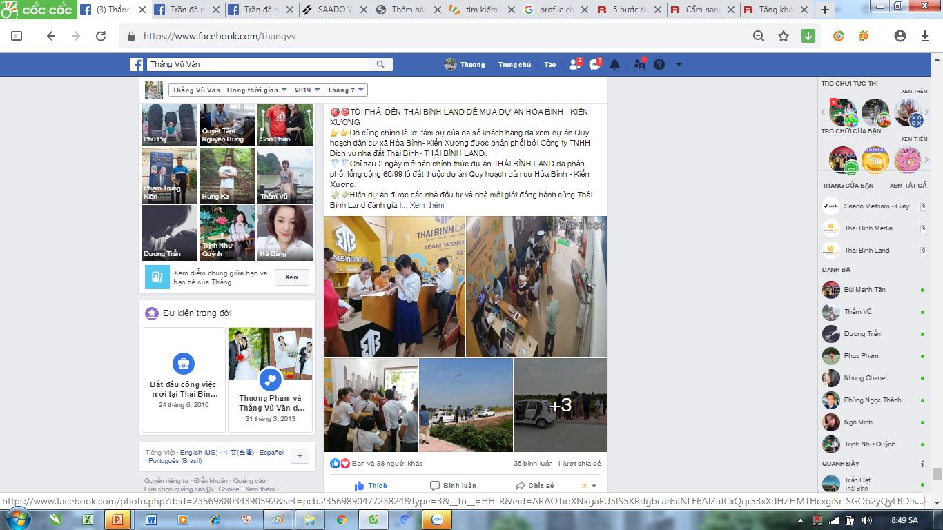 bài viết chất lượng trên profile facebook